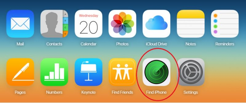 Find iPhone Main iCloud