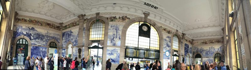Top 5 European Destinations - Tiled wall in Porto train station