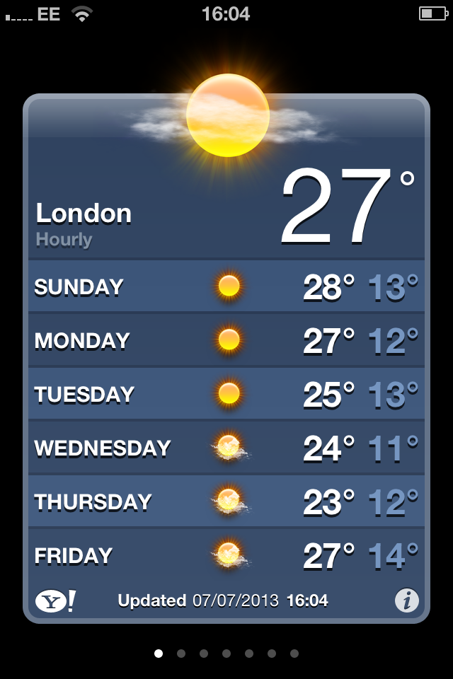 Moving to the UK - it does get hot here!