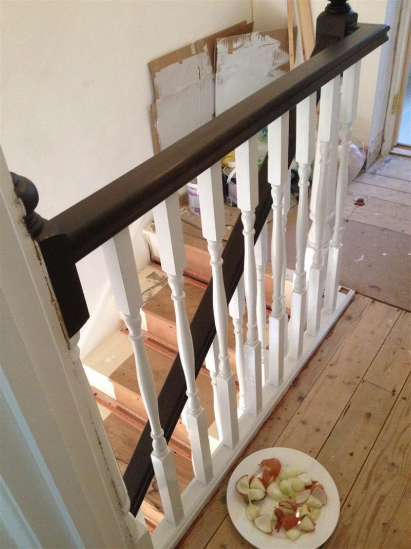 Stair renovation - Painted spindles