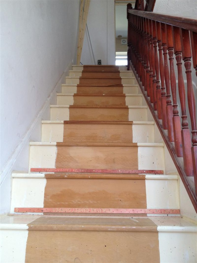 Stair renovation - carpets removed