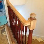Stair renovation - stripped handrail
