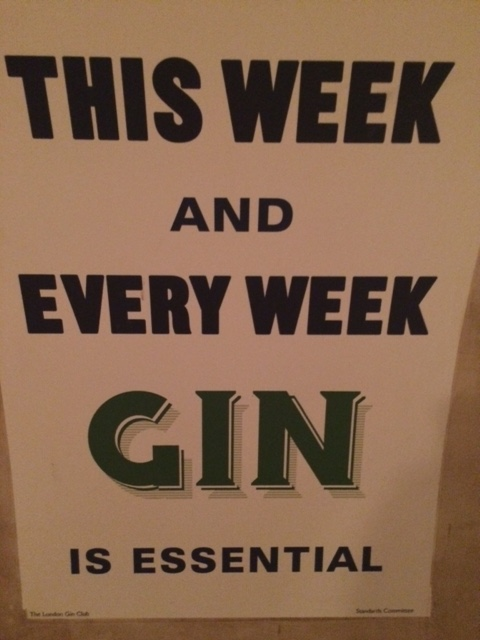A gin tasting at The London Gin Club