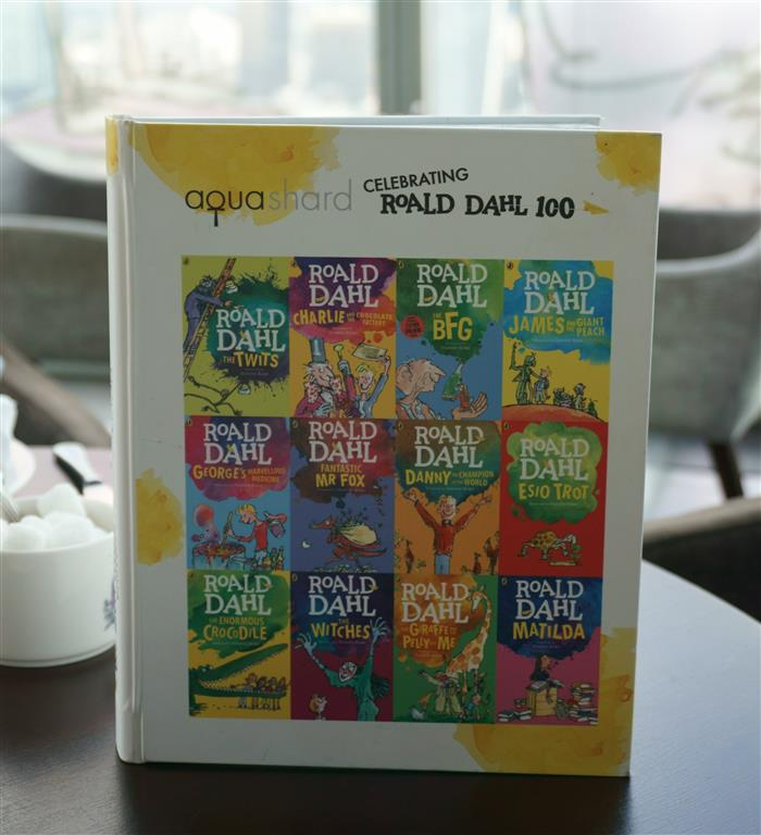 Roald Dahl Afternoon Tea at Aqua Shard