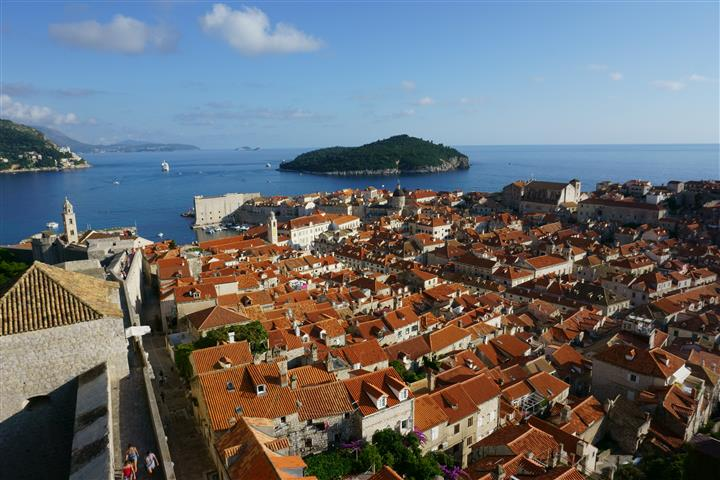 Orange rooftops in Dubrovnik