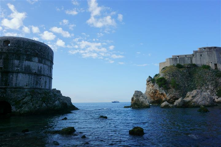 Fort Lovrijenac from sea cove in Dubrovnik