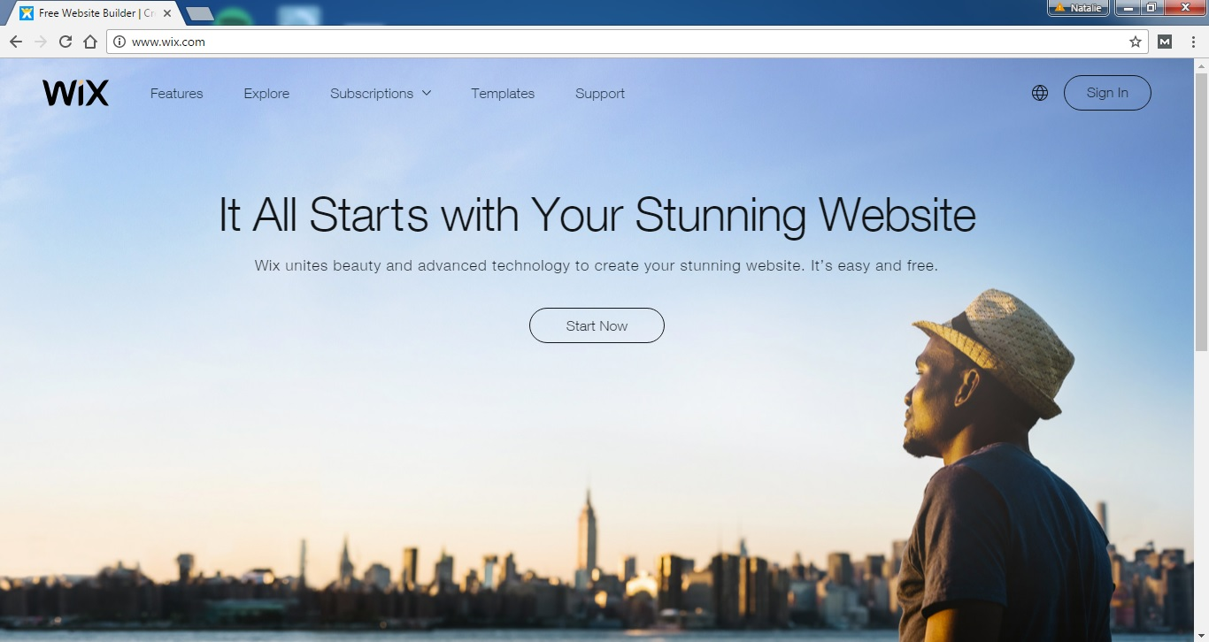 Create websites easily with Wix