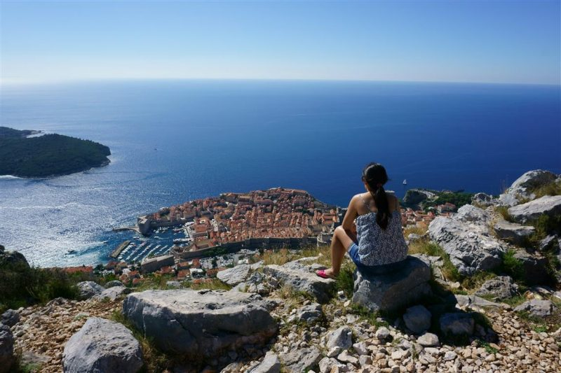 View from top of hill in Dubrovnik