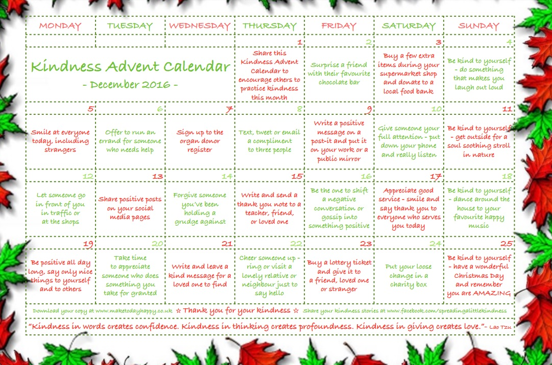 Celebrate the Festive Season with a Kindness Advent Calendar